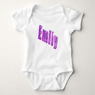 Emily Dimensional Logo, Baby Bodysuit