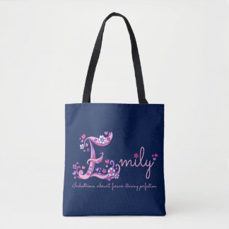 Emily E monogram art and name meaning bag