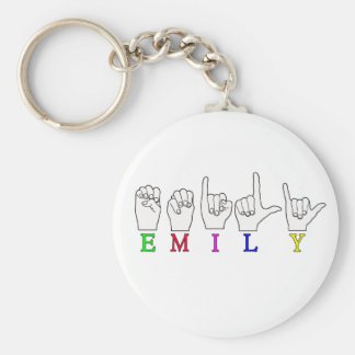 EMILY FINGERSPELLED NAME ASL KEY RING