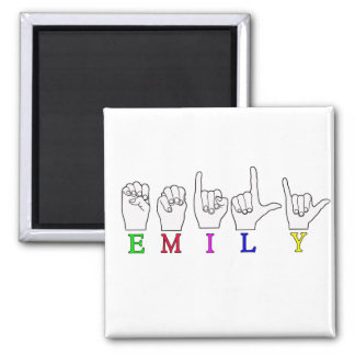 EMILY FINGERSPELLED NAME ASL MAGNET