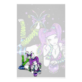 """Emily"" Magic Rainbow Crystal Ball Fae Stationery"