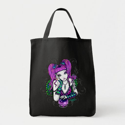 """""""Emily"""" Magical Rainbow Crystal Ball Canvas Bag"""