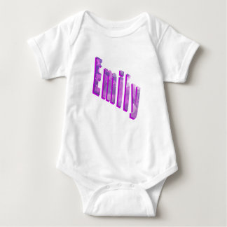 Emily, Name, Dimensional Logo, Baby Jumpsuit