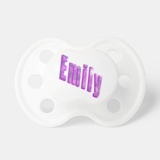 Emily Name Tag, Baby Dummy (Pacifier)
