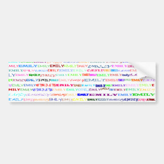 Emily Text Design II Bumper Sticker