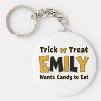 Emily Trick or Treat Keychains