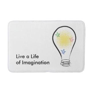 Emilyann's Live a Life of Imagination Bath Mat