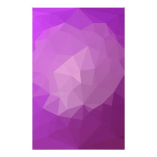 Eminence Violet Abstract Low Polygon Background Customised Stationery
