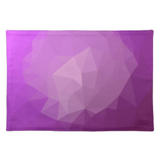 Eminence Violet Abstract Low Polygon Background Placemat
