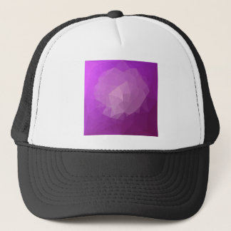 Eminence Violet Abstract Low Polygon Background Trucker Hat