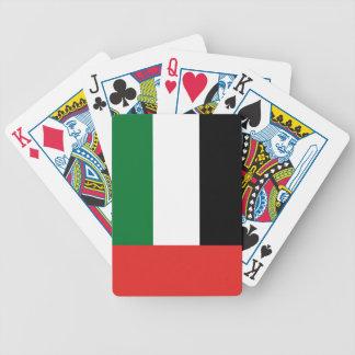 Emiradosarabes flag bicycle playing cards