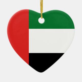 Emiradosarabes flag ceramic ornament