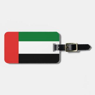 Emiradosarabes flag luggage tag