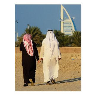 Emirate Dubai Burj al-Arab Sheikh beach emirati Postcard