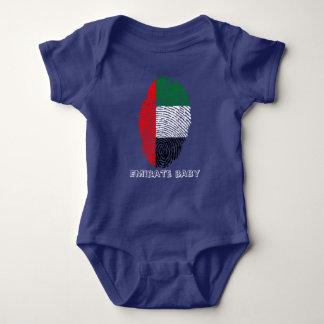 Emirate touch fingerprint flag baby bodysuit
