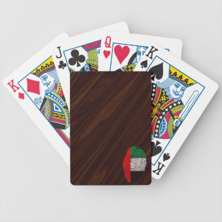 Emirate touch fingerprint flag bicycle playing cards