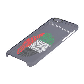 Emirate touch fingerprint flag clear iPhone 6/6S case