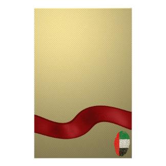 Emirate touch fingerprint flag customized stationery