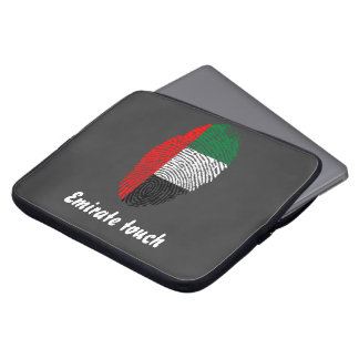 Emirate touch fingerprint flag laptop sleeve