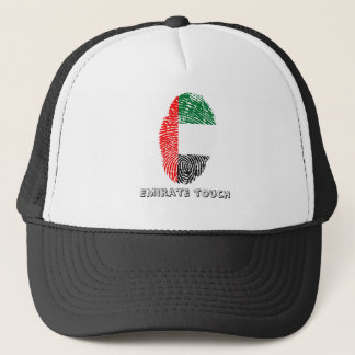 Emirate touch fingerprint flag trucker hat