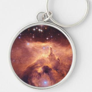 Emission Nebula NGC6357 Silver-Colored Round Key Ring