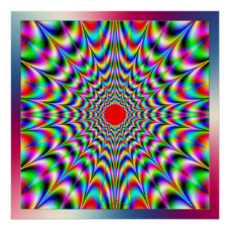 Emission of Vibrating Colors Posters