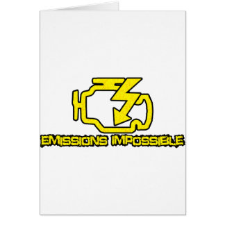 Emissions Impossible Greeting Card