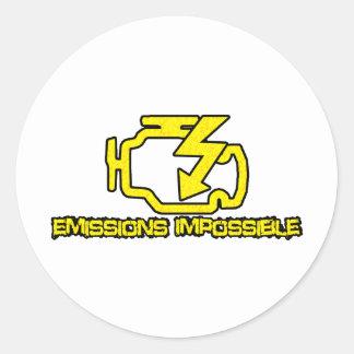 Emissions Impossible Round Sticker
