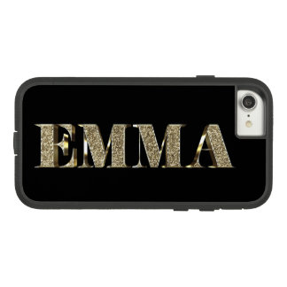 Emma Elegant Golden Glitter Look Typography Name Case-Mate Tough Extreme iPhone 8/7 Case