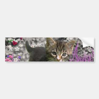 Emma in Flowers I – Little Gray Kitten Bumper Stickers