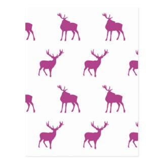Emma Janeway Purple Stags Postcard