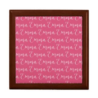 Emma - Modern Calligraphy Name Design Large Square Gift Box