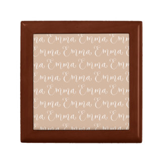 Emma - Modern Calligraphy Name Design Small Square Gift Box