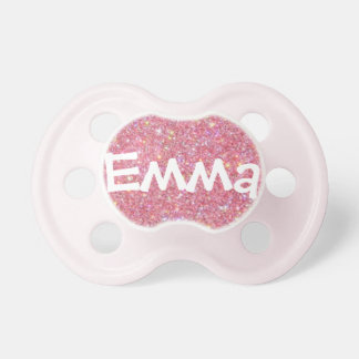 """Emma"" Personalized Name Glitter Pacifier"