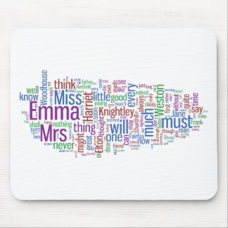 Emma Word Cloud Mouse Pad