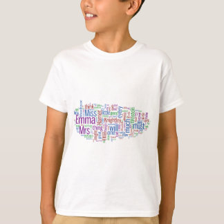Emma Word Cloud T Shirt