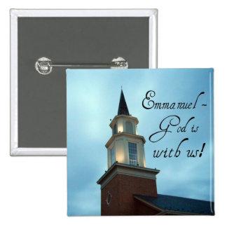Emmanuel - God is with us! 15 Cm Square Badge