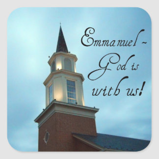 Emmanuel - God is with us! Square Sticker