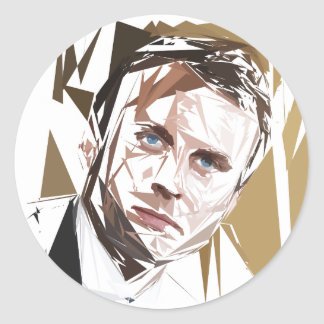 Emmanuel Macron Classic Round Sticker