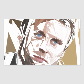 Emmanuel Macron Rectangular Sticker