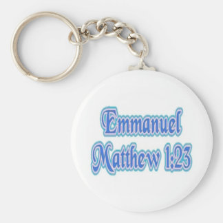 Emmanuel Matthew 1:23 Basic Round Button Key Ring