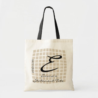 Emma's Cool Checked Monogrammed Statement Tote