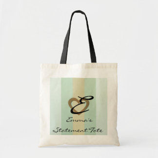 Emma's Cute Chic Gold Heart  Statement Tote