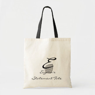 Emma's Cute Chic Silver Leaf  Statement Tote