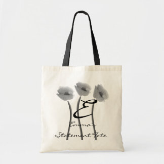 Emma's Cute Chic White Peony  Statement Tote