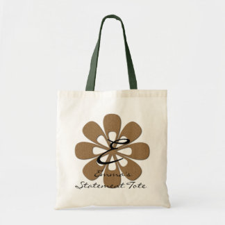 Emma's Cute Gold Flower Statement Tote