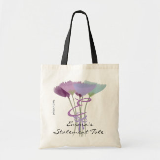 Emma's Cute Lilac Peony Statement Tote