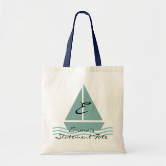 Emma's Cute Sailboat Statement Tote