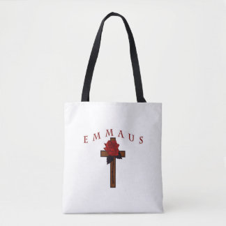 Emmaus Cross double sided Tote Bag