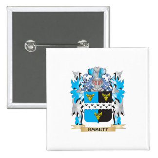 Emmett Coat of Arms - Family Crest Pinback Button